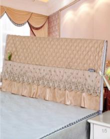床头罩床头套现代简约防滑夹棉1.2m/1.5m/1.8m/2.0m/2.2m床布艺实木床头防尘罩