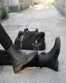 2017秋冬季高帮鞋防水男鞋马丁靴男靴子男士短靴军靴英伦皮靴加绒雪地靴保暖棉鞋潮流户外棉靴加毛工装靴长靴