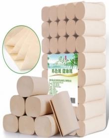 5.8斤40卷风韵万家天然竹浆本色纸卫生纸卷纸厕纸卷筒纸不漂白纸批发包邮