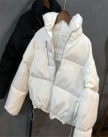 冬季新款韩版短款宽松羽绒棉服女外套加厚棉衣学生面包服棉袄