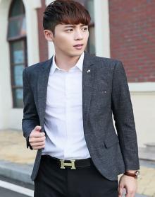 新款韩版小西服男士百搭休闲西装修身外套潮