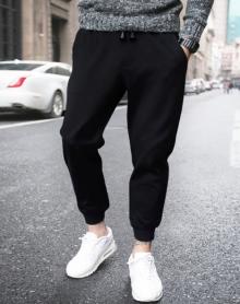 男士哈伦裤韩版束脚裤运动裤加绒加厚修身小脚休闲裤