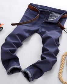 男士休闲磨毛棉裤加绒加厚冬季男裤大码弹力保暖裤男棉裤外穿长裤
