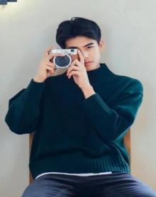 秋冬季潮男士韩版修身圆领纯色毛衣青少年日系套头针织衫半高领