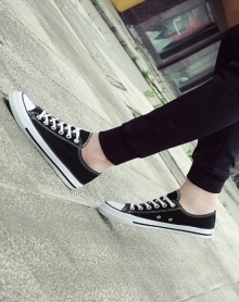 秋季新款春季韩版男士帆布鞋男生鞋休闲鞋学生低帮布鞋时尚小白鞋
