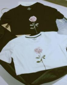 夏季新款玫瑰印花男士短袖T恤港风文艺青年学生大码上衣t恤衫潮