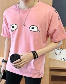 夏季男装潮流韩版修身休闲短袖体恤男士纯棉圆领短袖T恤男生衣服2018新款