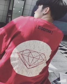 2018夏季新款男士短袖T恤炒鸡很好看的一件T恤情侣短袖T恤韩版印花钻石短袖