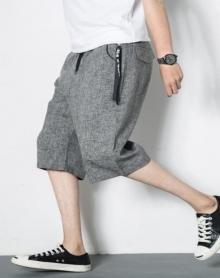 2018七分裤男夏季裤子男韩版潮流男士7分裤大码短裤男夏天宽松阔腿裤