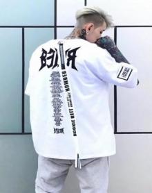 2018五分袖t恤男短袖韩版潮流学生嘻哈宽松七分袖上衣服5分中袖体恤衫