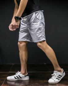2018宽松大码速干沙滩裤男平角温泉泳裤海边度假情侣套装短裤大裤衩潮