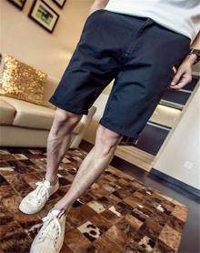 2018纯色休闲短裤简约沙滩裤五分裤男2017新款男装夏季大码男裤子