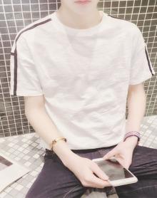 夏季男装体恤男士圆领短袖T恤潮修身林弯弯打底衫韩版半截袖男生
