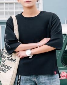 2018t恤男短袖韩版潮学生宽松帅气衣服简约百搭青少年小清新潮流体恤