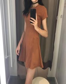 打底衫女夏装2018新款女裙子韩版高腰显瘦短款夏季女装连衣小黑裙
