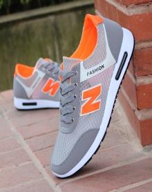 步男鞋运动鞋男夏季新款网面跑步鞋轻便减震耐磨舒适休闲慢跑鞋