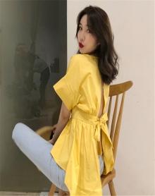 女生酷酷的衣服夏装2018新款下身失踪上衣韩版学生不规则短袖T恤