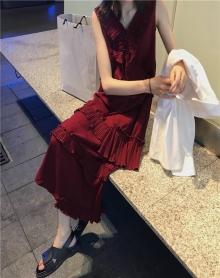 夏装2018新款韩版少女心仙女裙显瘦复古层层蛋糕裙冷淡风连衣裙潮